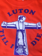 LUTON TILL I DIE  T-SHIRT ORANGE
